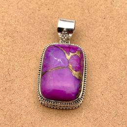 Natural Gemstone Pendant in Sterling Silver